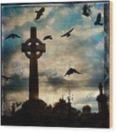 Celtic Blue Wood Print