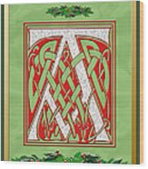Celtic Christmas A Initial Wood Print