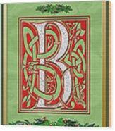 Celtic Christmas B Initial Wood Print