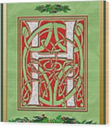 Celtic Christmas H Initial Wood Print