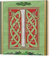 Celtic Christmas I Initial Wood Print
