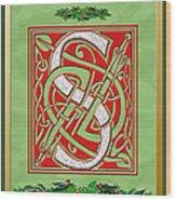 Celtic Christmas S Initial Wood Print