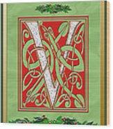 Celtic Christmas V Initial Wood Print