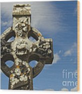 Celtic Cross, Cong Abbey, Ireland Wood Print