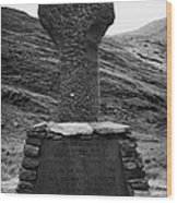 Celtic Cross Famine Memorial At Doulough County Mayo  Wood Print
