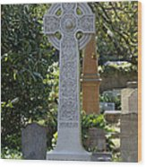 Celtic Cross Of Charleston  Wood Print