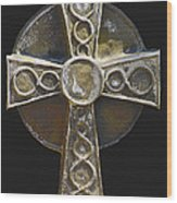 Celtic Cross Sepia Wood Print