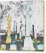 Celtic Crosses Wood Print