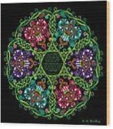 Celtic Fairy Mandala Wood Print