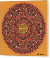 Celtic Fall Fairy Mandala Wood Print