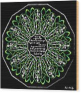 Celtic Flower Of Death Wood Print