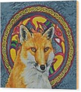 Celtic Fox Wood Print