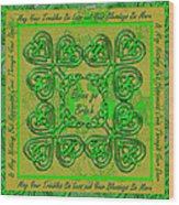 Celtic Irish Clover Home Blessing Wood Print