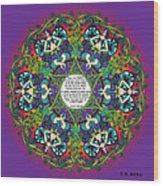 Celtic Spring Fairy Mandala Wood Print