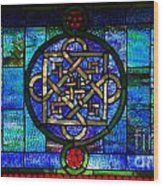 Celtic Stained Glass Horizontal Wood Print