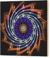 Celtic Tarot Moon Cycle Zodiac Wood Print