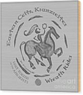 Celtic Wreath Rider Coin Wood Print