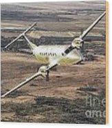 Cemair Beech 1900 Plane Airplane Flying Flight Wood Print