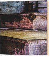 Cement Steps Number One Wood Print
