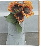 Cemetary Flowers 1 Wood Print