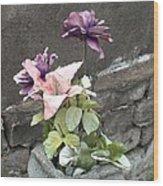 Cemetary Flowers 2 Wood Print