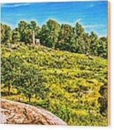 Cemetary Ridge Gettysburg Battleground Wood Print