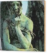 Cemetery Angel 2 Wood Print