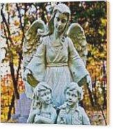 Cemetery Angel Wood Print
