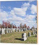 Cemetery At Gettysburg National Battlefield Wood Print by Brendan Reals