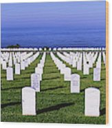 Cemetery At Waterfront, Fort Rosecrans Wood Print
