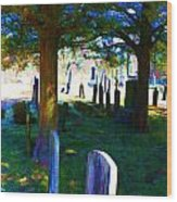 Cemetery Color 2 Wood Print