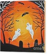 Cemetery Ghosts Wood Print