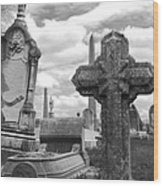 Cemetery Graves Wood Print