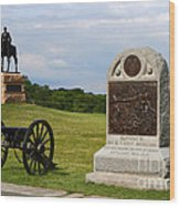 Cemetery Ridge Gettysburg Wood Print by James Brunker