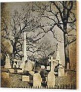 Cemetery Shades Wood Print
