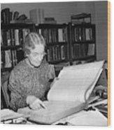 Census Analysis, 1937 Wood Print