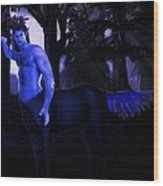 Centaur At Night Wood Print
