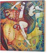 Centaur In Love Wood Print