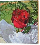 Centenary Rose Wood Print