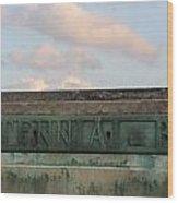 Centennial Bridge Sign Wood Print