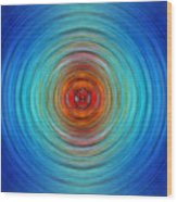 Center Point - Abstract Art By Sharon Cummings Wood Print
