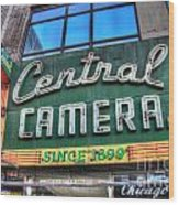 Central Camera Wood Print