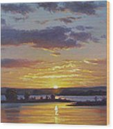 Central Coast Sunset Wood Print
