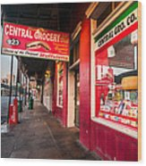 Central Grocery And Deli In New Orleans Wood Print