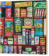 Central Grocery Essentials Wood Print by Brenda Bryant