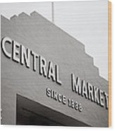 Central Market Wood Print