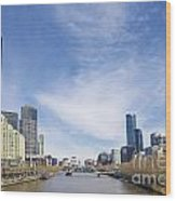 Central Melbourne Skyline By Day Australia Wood Print