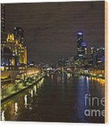 Central Melbourne Skyline In Australia Wood Print