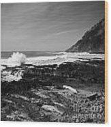 Central Oregon Coast Bw Wood Print