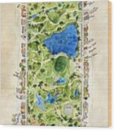 Central Park And All That Surrounds It Wood Print